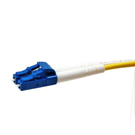 Fiber Optic Cable - LC to LC_ 9/125 Type_ Single Mode_ Duplex_ Yellow_ 1m - image 1 of 2