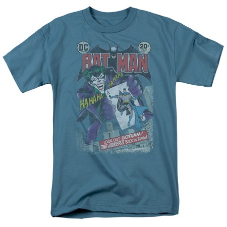 Blue And Grey Batman (Batman #251 Distressed Officially Licensed Adult T)
