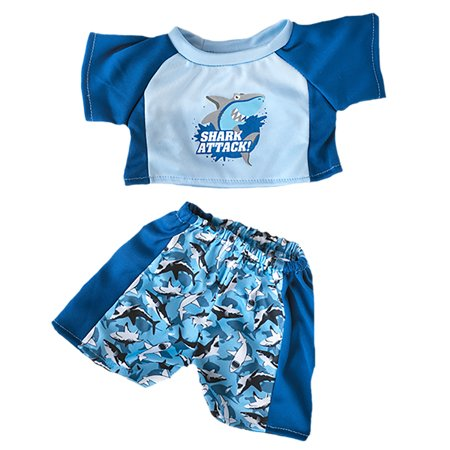 Shark Swimming Outfit Most 14 18 Build A Bear Vermont Teddy