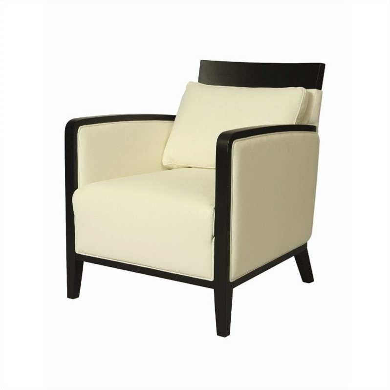 Pastel Furniture Elloise Leather Club Chair in White by Pastel Furniture