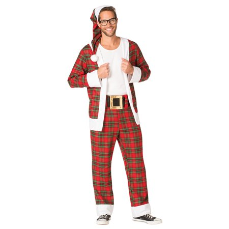 Hipster Mr. Claus Men's Adult Costume, One Size, - Hipster Costumes Ideas