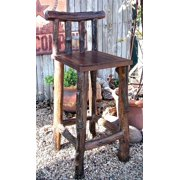Rustic Outdoor Teak Bar Stool - 30 Inches High (Set of 2)
