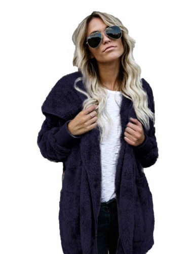 Womens Long Oversized Hoodie Loose Knitted Sweater Cardigan Outwear Coat Faux Fur Long Sleeve Overcoat Winter by