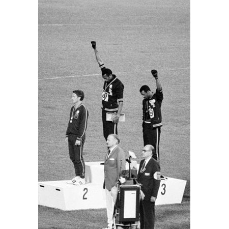 Mexico Olympics 1968 Black Power Salute 36x24 Tommie Smith John Carlos Historic Art Print