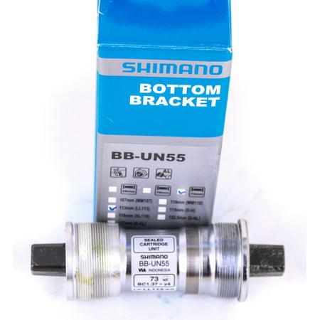 Shimano BB-UN55 Square Tapered Bike Crank Bottom Bracket 68 x 122mm (Shimano Un55 Bb Square Taper Bottom Bracket)
