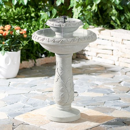- Better Homes & Gardens Solina Solar Pedestal Water Fountain