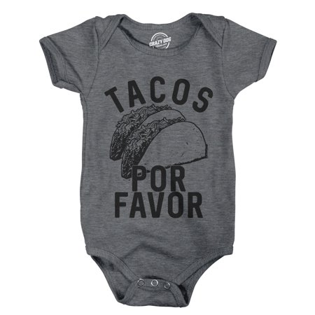 Creeper Tacos Por Favor Funny Cinco De Mayo Bodysuit For Newborn - Blanket Sleepers For Toddlers