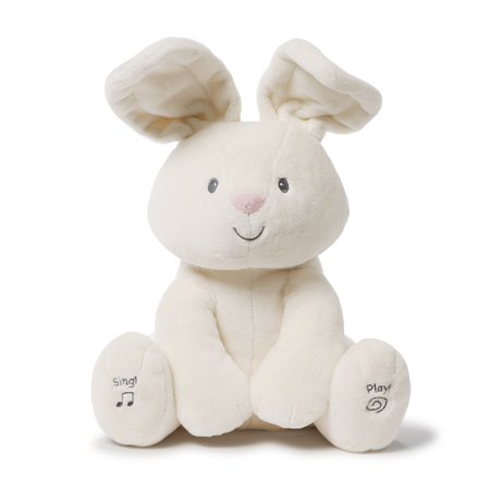 Baby Flora The Bunny Animated Plush Stuffed Animal Toy, Cream,