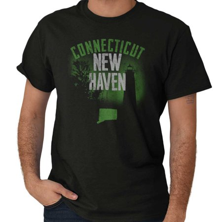 Brisco Brands Connecticut New Haven CT Local Short Sleeve Adult T-Shirt (Local Adult Stores)