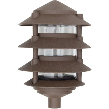 Dabmar Lighting D5200-BZ Lampe Pagode - quatre -tages en aluminium coul-, bronze - image 1 de 1