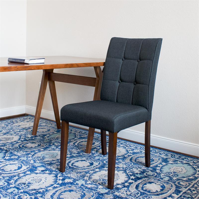 Mid-Century Modern Liam Dark Gray Dining Chair (Set of 2 ...