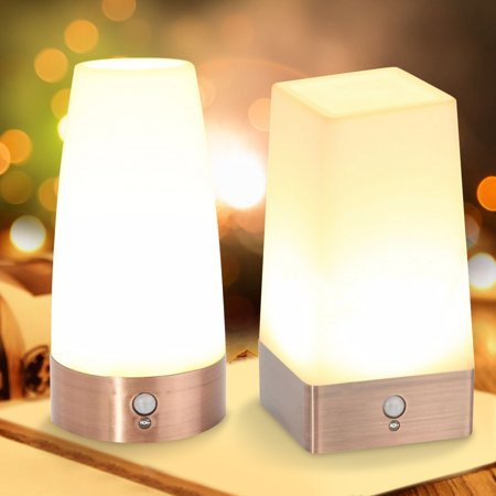 Wireless Indoor Led Night Light Table Desk Lamp Motion
