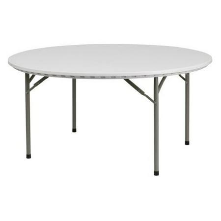 Round Folding Table Granite White Walmart Com