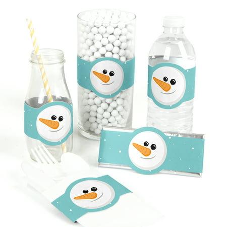 Let It Snow - Snowman DIY Party Supplies - Holiday & Christmas Wrapper Favors - Set of - Snowman Favors
