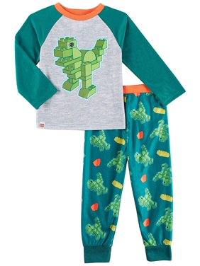 Lego Dinosaur Toddler Boys Poly Top with Flannel Jogger Pants Pajamas F18BT261DU