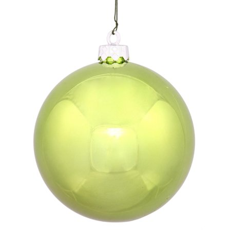 Shiny Lime Green UV Resistant Commercial Shatterproof Christmas Ball Ornament 4