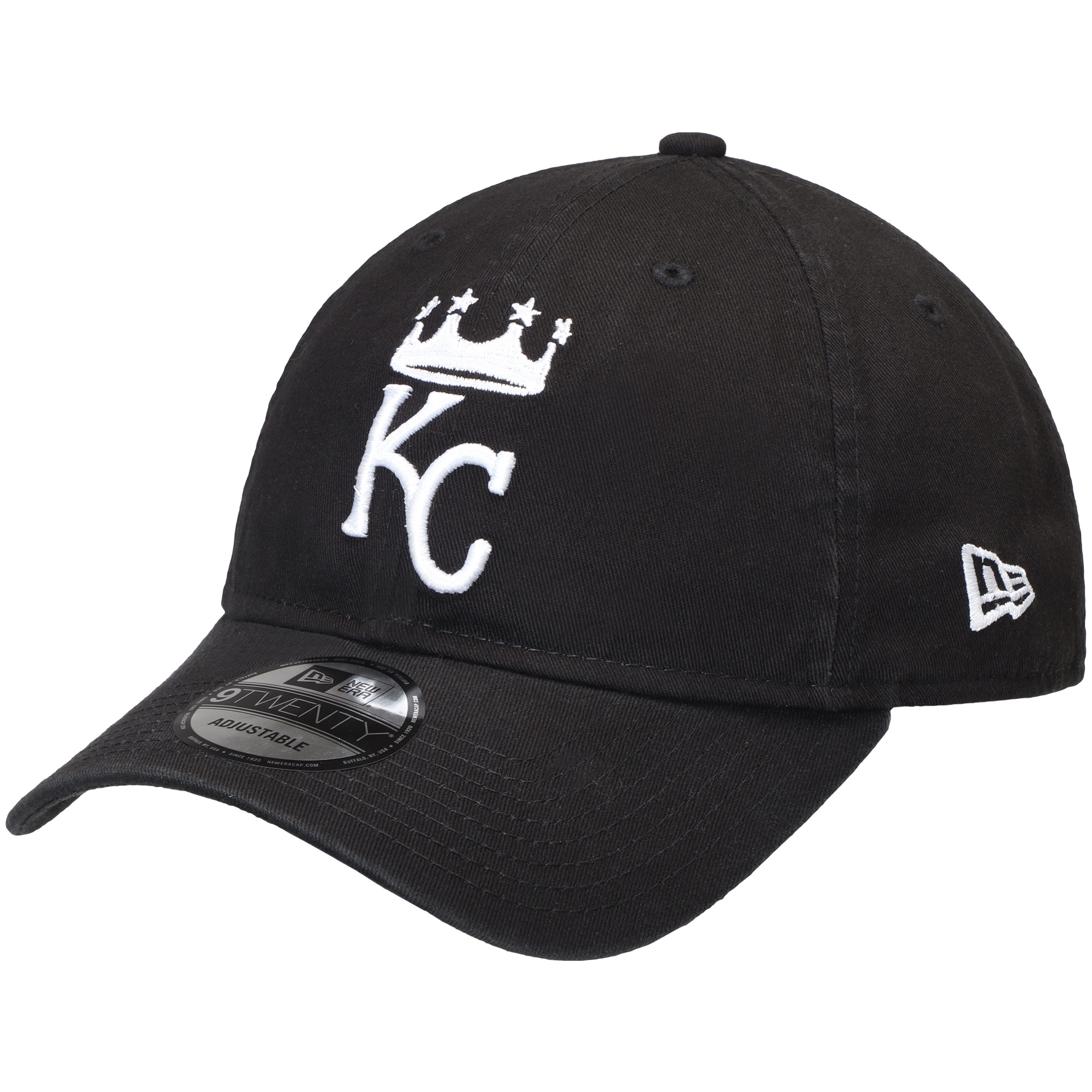 Kansas City Royals New Era Core Classic Twill 9TWENTY Adjustable Hat - Black - OSFA