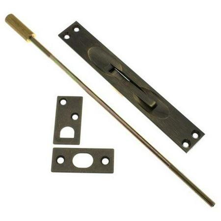 Idh by St. Simons 11020-005 Solid Brass Extension Flush Bolt UL Standard Rod, Antique Brass - 12 (11 Brass Extension Rod)