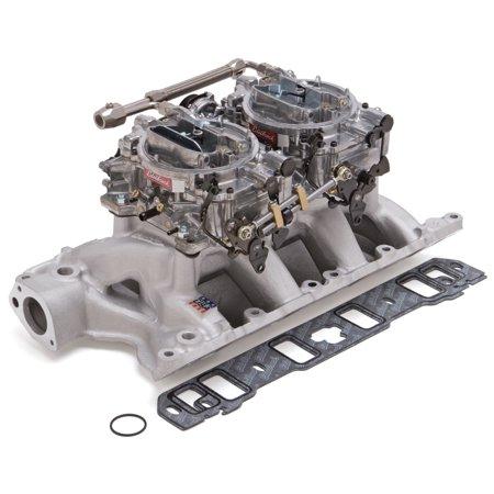 Air Gap Dual Quad Manifold - Edelbrock 2085 RPM Air-Gap Dual-Quad Intake Manifold/Carburetor Kit