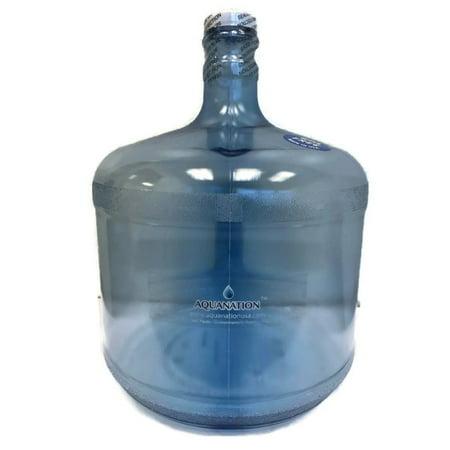 AquaNation 3 Gallon Reusable BPA-Free FDA Food Grade Tritan Plastic Water Bottle Jug Gallon Container Canteen - (Made in USA) (Plastic Water Bottles In Bulk)