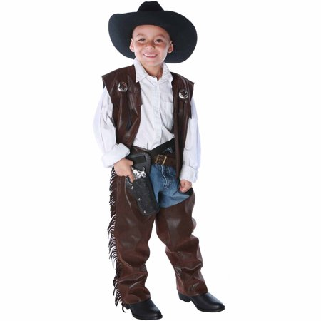 Cowboy Chaps Vest Child Costume - Cowboys Costume