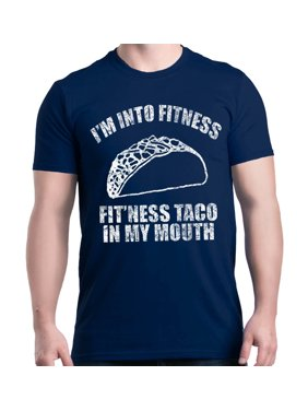 200c84c4e Product Image Shop4Ever Men s I m Into Fitness Fit ness Taco In My Mouth  Graphic T