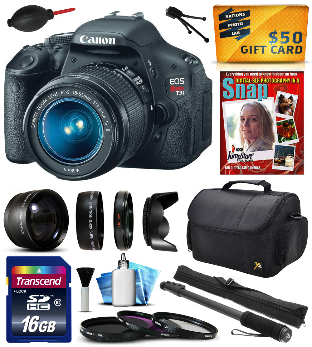 Canon EOS Rebel T3i 600D Digital Camera with 18-55mm Lens...