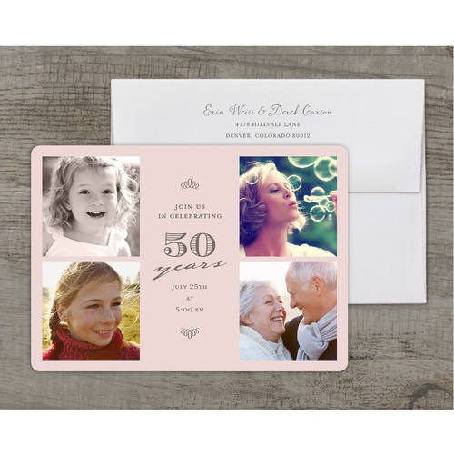 Formal Scrolls Deluxe Birthday Milestone Invitation