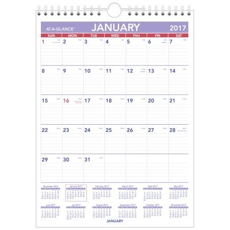 At-A-Glance 2017 XL Monthly Wall Calendar Wirebound, 20 x 30 in.