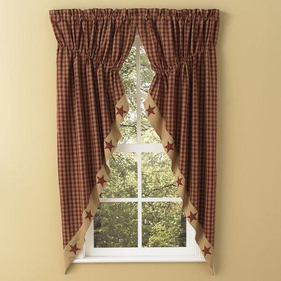 Sturbridge Star Patch Gathered Swags Prairie Curtains Park Designs ...