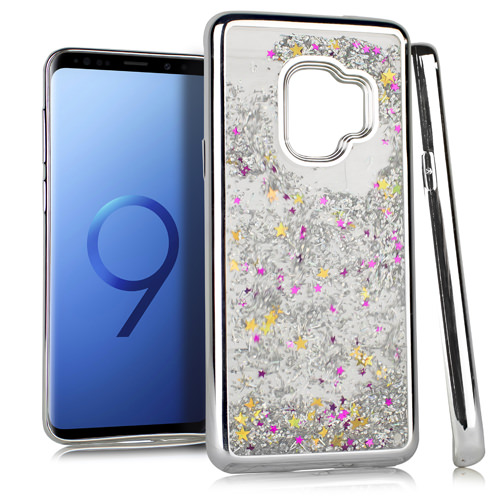 MUNDAZE Silver Motion Glitter Chrome Case For Samsung Galaxy S9 Phone