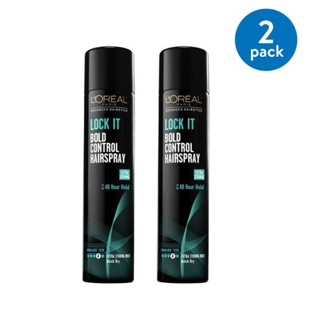 LOreal Paris Advanced Hairstyle Lock It Bold Control Hairspray, 8.25 oz (Pack of 2) - Fifties Hairstyles
