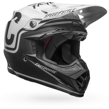528b5b4148af3 Bell Moto-9 MIPS Off-Road Motorcycle Helmet (Gloss/Matte Black/White  Fasthouse, Large)