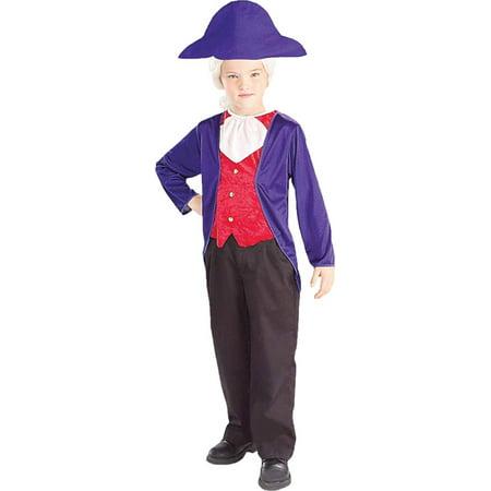Morris costumes FM58269LG George Washington Child Lg](Kids George Washington Costume)