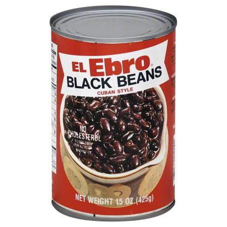 El Ebro Cuban Style Black Beans, 15 oz