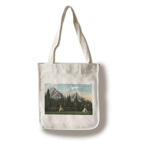 Glacier National Park  Montana   View Of A Blackfoot Camp On Cut Bank Creek  100  Cotton Tote Bag   Reusable