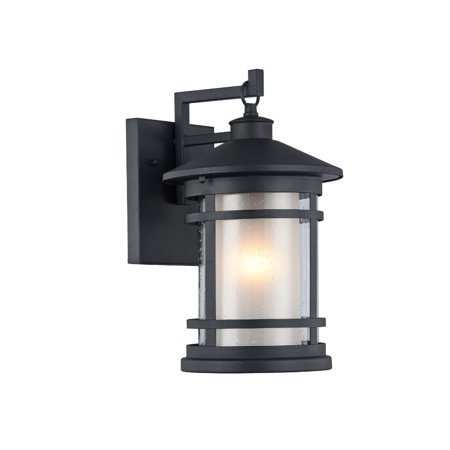 "CHLOE Lighting ADESSO Transitional 1 Light Black Outdoor Wall Sconce 14"" Height"