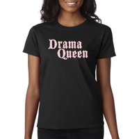 Trendy USA 1478 - Women's T-Shirt Drama Queen Trouble Maker Funny Humor Gossip 2XL Daisy Yellow