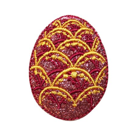 ID 3343 Faberge Easter Egg Patch Decorative Jeweled Embroidered Iron On Applique ()