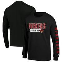 Men's Russell Athletic Black Nebraska Cornhuskers Hit Long Sleeve T-Shirt