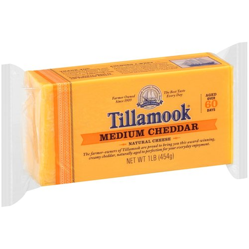 Tillamook Medium Cheddar Natural Cheese, 1 lb
