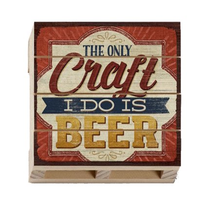Highland Woodcrafters Craft I do is Beer Wood Pallet Coaster ()