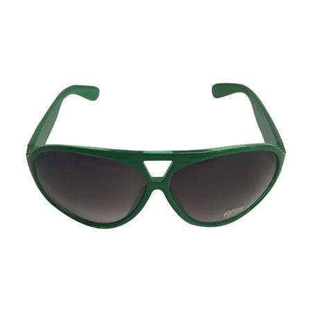 Green Round Plastic Aviator Sunglasses The Dude Big Lebowski Jeffrey - Lebowski Costumes