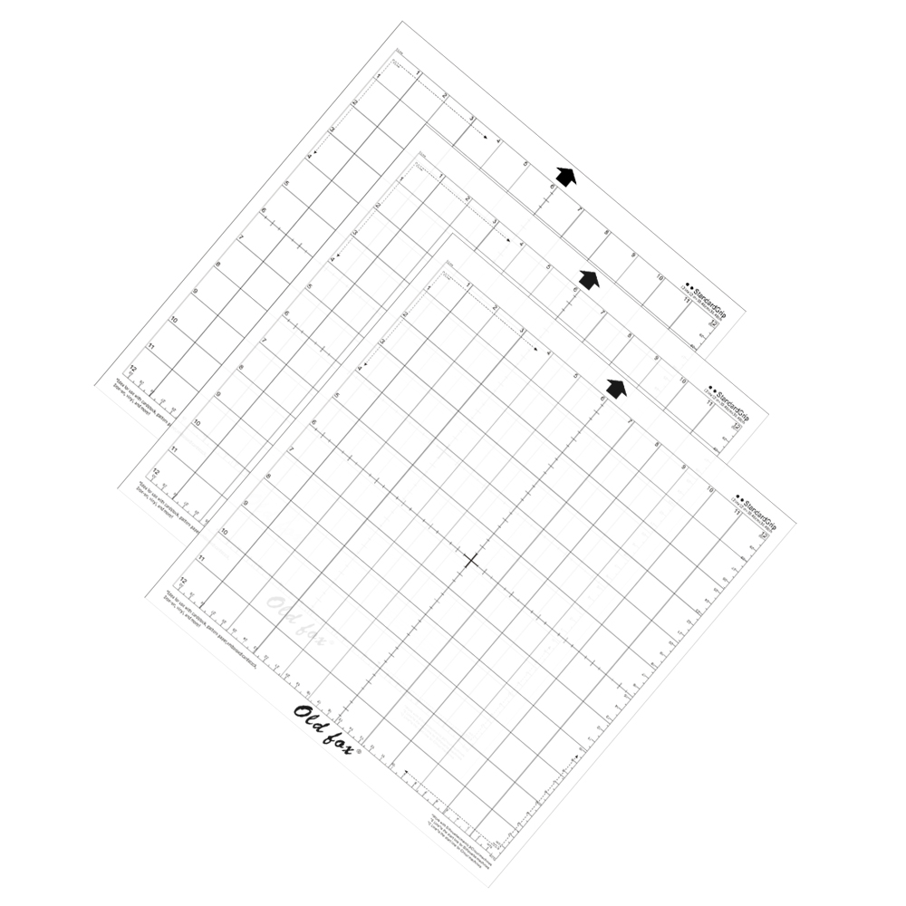 3Pcs Standardgrip Silhouette Cutting Mat 12 X 24 In Replacement Cameo White NEW