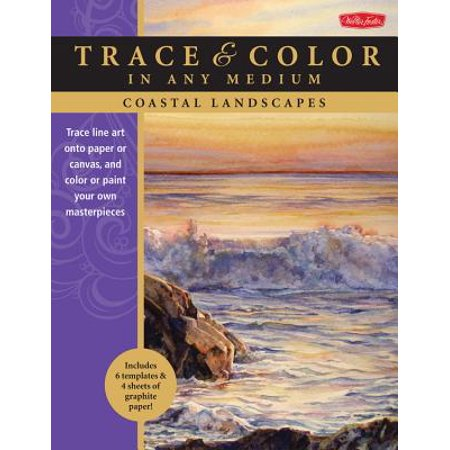 Coastal Landscapes : Trace Line Art Onto Paper or Canvas, and Color or Paint Your Own -