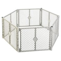 8666 Grey 6 Panel Play Gate