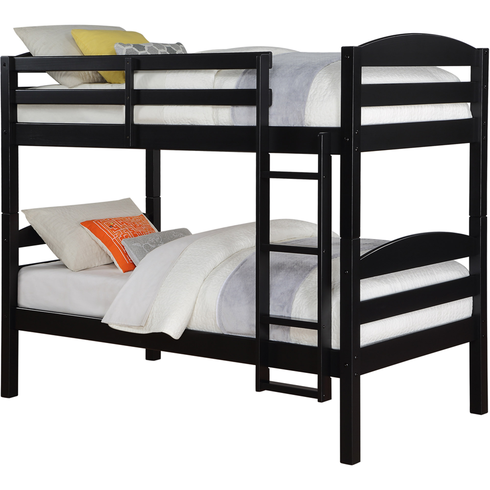 Better Homes and Gardens Leighton Twin Over Twin Wood Bunk Bed with Set of  2 Mattresses, Multiple Finishes - Walmart.com