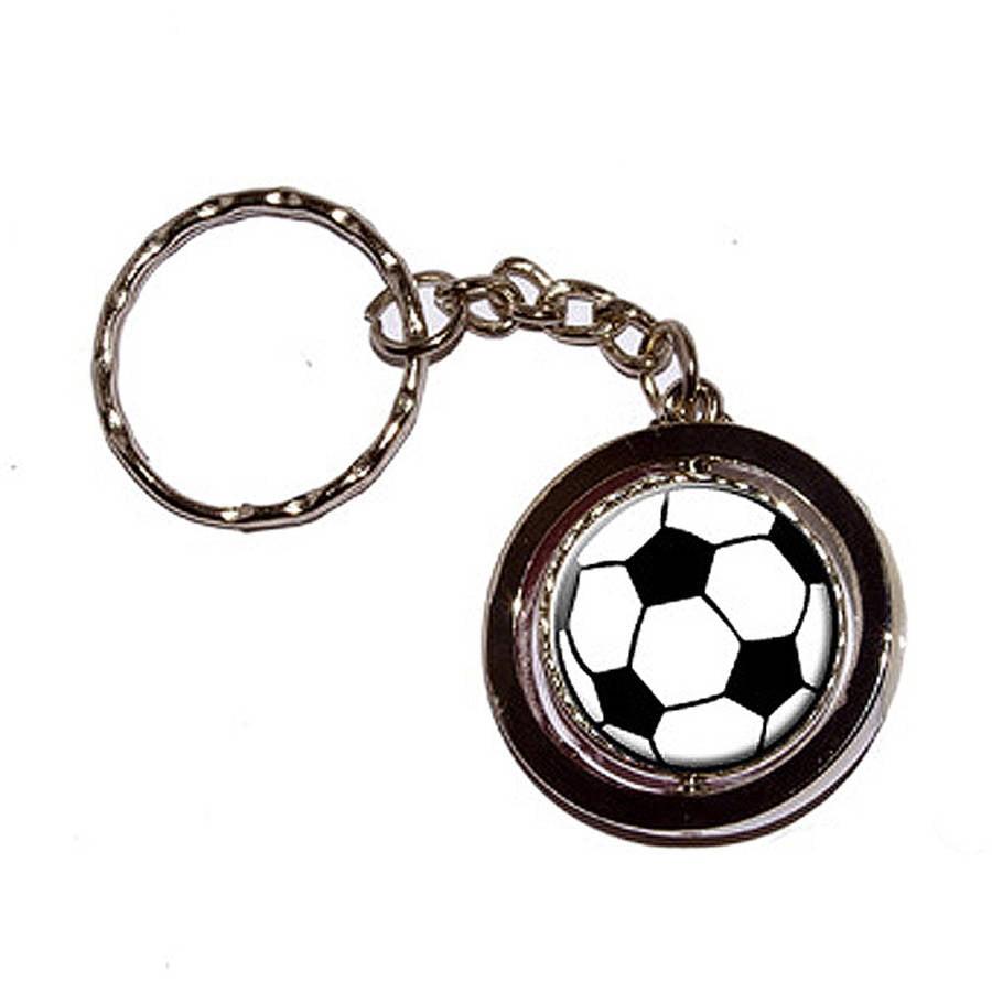 Soccer Ball New Keychain Ring