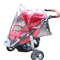 Baby Stroller Rain Cover White Waterproof Wind Shield Fit Most Pushchairs