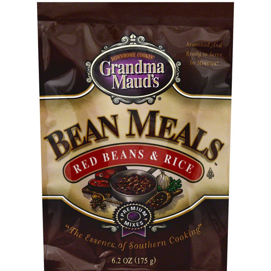 Grandma Mauds Red Beans & Rice Bean Meals, 6.2 oz, (Pack of 6)